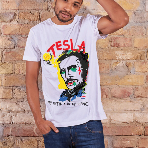 summ-man-tshirt-white-Tesla