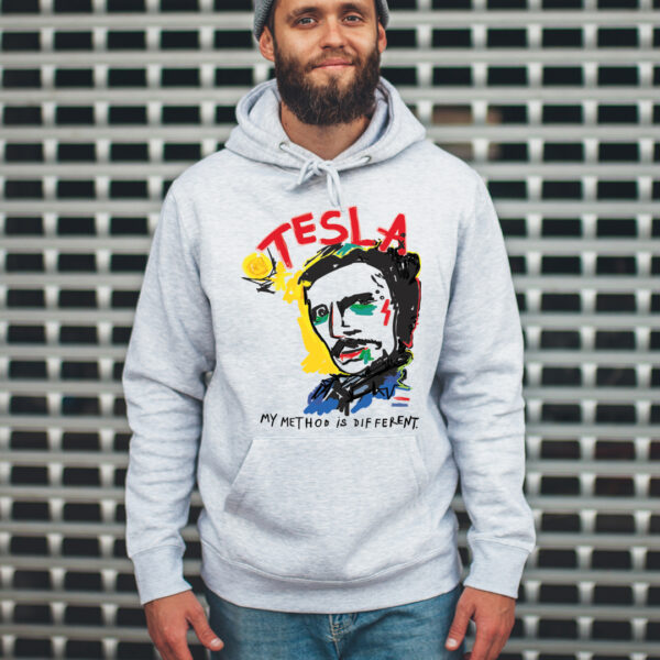unisex-hoodie-gray-tesla